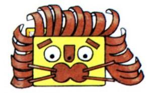Как сделать бумажного львенка