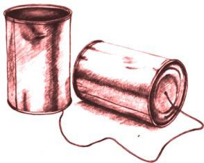 Модель рации из кофейных банок
