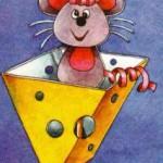 мышка-воришка из картона