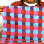 Плетеный коврик детскими руками