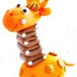 Жираф из пластилина1