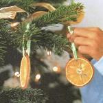 Апельсиновые украшения