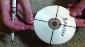 Расчерчиваем диск пополам