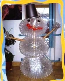 Снеговик из пластиковых стаканчиков как сделать нос