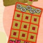 Игра крестики-нолики из ткани