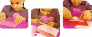 процесс изготовления объемной открытки