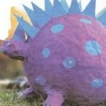 изготовление динозавра из папье-маше своими руками