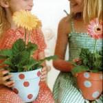 Как раскрасить цветочные горшки