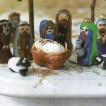 Рождественская сценка из полимерной глины